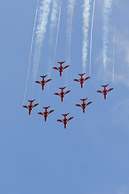 Formation display Hawk T1 Red Arrows